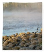 Mississippi River Duck Duck Dawn Fleece Blanket