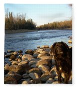 Mississippi River Good Morning Fleece Blanket