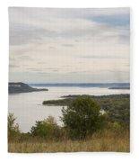 Mississippi River Lake Pepin 10 Fleece Blanket