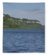 Mississippi River Lake Pepin 4 Fleece Blanket