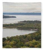 Mississippi River Lake Pepin 7 Fleece Blanket