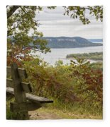 Mississippi River Lake Pepin 8 Fleece Blanket
