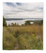 Mississippi River Lake Pepin 9 Fleece Blanket