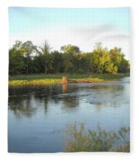 Mississippi River Lovely Dawn Light Fleece Blanket