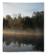 Mississippi River Smooth Reflection Fleece Blanket
