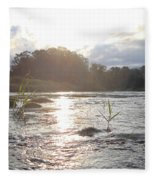 Mississippi River Victory At Sea Fleece Blanket