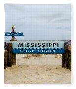 Mississippi Welcome Fleece Blanket