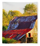 Missouri Barn Fleece Blanket