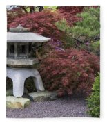 Missouri Botanical Garden A Japanese Snow Viewing Lantern Spring Time Dsc01783 Fleece Blanket