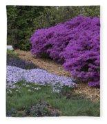 Missouri Botanical Garden Purple Azaleas Dsc01692 Fleece Blanket