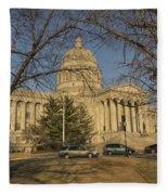 Missouri Capital Building Jefferson City Dsc00653 Fleece Blanket