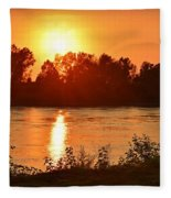 Missouri River In St. Joseph Fleece Blanket