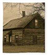 Missuakee County Log Cabin Fleece Blanket