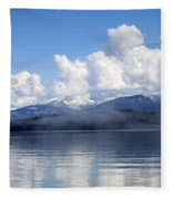 Mist Over Priest Lake Fleece Blanket