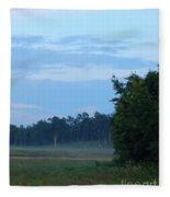 Mist Rolls In And Blue Sky At Sunset Fleece Blanket