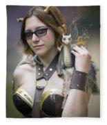 Mistress Of Dragons Fleece Blanket