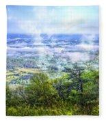 Mists In The Valley Fleece Blanket
