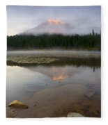 Misty Alpenglow Fleece Blanket