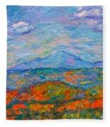 Misty Blue Ridge Autumn Fleece Blanket