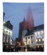 Misty Cathedral Fleece Blanket