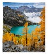 Misty Colchuck Lake Fleece Blanket