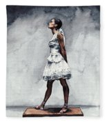 Misty Copeland Ballerina As The Little Dancer Fleece Blanket