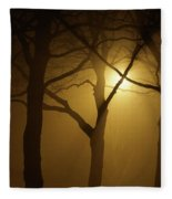 Misty Cross Fleece Blanket