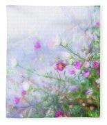Misty Floral Spray Fleece Blanket
