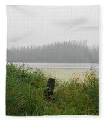 Misty Lake Fleece Blanket