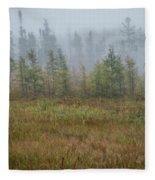Misty Landscape Fleece Blanket