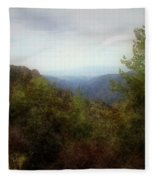 Misty Morn In The Mountains Fleece Blanket