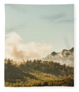 Misty Mountain Peaks Fleece Blanket