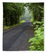 Misty Mountain Road Fleece Blanket