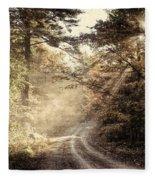 Misty Mountain Road Fleece Blanket