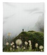 Misty Mountain View Fleece Blanket