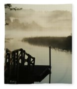 Misty Oregon Morning Fleece Blanket
