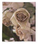 Misty Rose Tinted Dried Roses Fleece Blanket