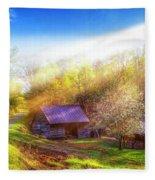 Misty Spring Morning Fleece Blanket