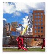 Mit Stata Center Cambridge Ma Kendall Square M.i.t. Sculpture Fleece Blanket