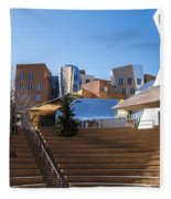 Mit Stata Center Cambridge Ma Kendall Square M.i.t. Staircase Fleece Blanket