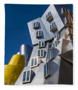 Mit Stata Center Cambridge Ma Kendall Square M.i.t. Fleece Blanket