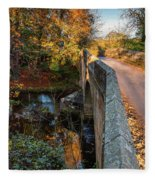 Mitford Bridge Over River Wansbeck Fleece Blanket