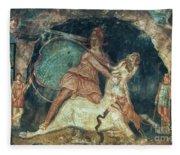 Mithras Killing The Bull - To License For Professional Use Visit Granger.com Fleece Blanket
