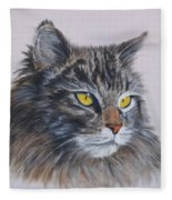 Mitze Maine Coon Cat Fleece Blanket