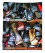 Mix Of Shoes Nyc Fleece Blanket