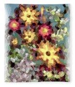 Mixed Floral Fleece Blanket