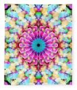 Mixed Media Mandala 9 Fleece Blanket