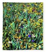 Mixed Wildflowers In Texas Fleece Blanket