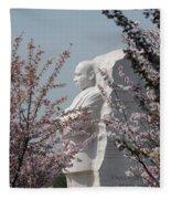 Mlk Blossoms Fleece Blanket