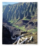 Mmm-119 Sacred Hawaiian Chieftans Resting Place Honopu Arch Fleece Blanket